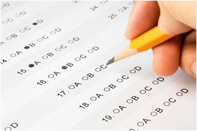 taking exam