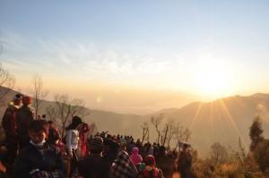 Suasana saat sunrise